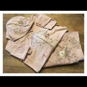 BCBGMAXAZRIA Lavender Studded Loungewear Set